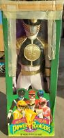 "VINTAGE Toymakers 1994 Power Rangers Mighty Morphin Mega Size 36"" -White Ranger!"
