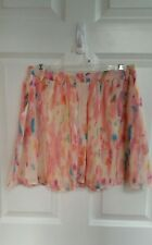 Forever 21 Rory Beca Skirt Pastel Watercolor  Size Medium NWOT
