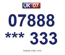07888 *** 333  - Gold Easy Memorable Business Platinum VIP UK Mobile Numbers