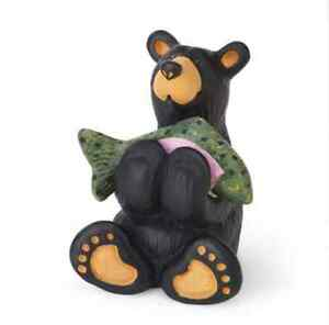 Bearfoots Tiny Cub with Fish Mini Figurine from Big Sky Carvers # B5080063