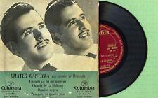 CUATES CASTILLA / Oracion Negra / COLUMBIA ECGE 60060 Press Spain 1956 EP VG