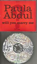 PAULA ABDUL Will You Marry me w/RARE EDIT PROMO Radio DJ CD single 1991 USA MINT