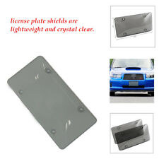 2PCS/Set Clear Cover License Plate Tag Frame Shield Tinted Bubbled Flat Car