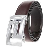 Hot Sale Men's Leather Belt Automatic Buckle Belt Ratchet Strap Gift Waistband