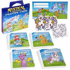 Valentine's Day Cards For Kids | Mythical Creatures 28 Valentines Cards With