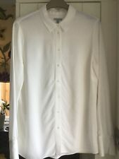 Pure SILK Ivory Colour Blouse by Jigsaw SIZE 10 PRISTINE CONDITION