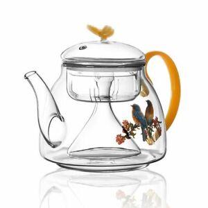Pyrex Glass Teapot Household Creative Flower Business Large Capacity Maker