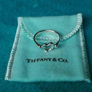 Tiffany & Co Genuine Elsa Peretti Open Heart Silver ring