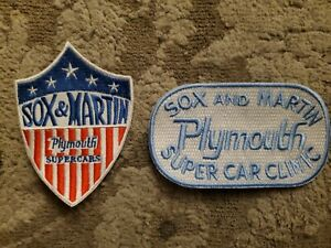 Sox And Martin Patch Lot of 2 Plymouth super car clinic Embroidered