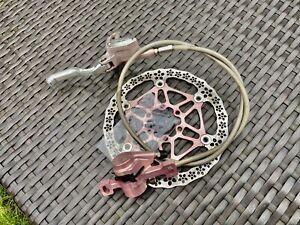 Hope Mono Mini Hydraulic Disc Brake Edition Pink 160mm Rotor Braided Hose **Rare