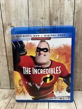The Incredibles (Blu Ray & Dvd 3 Disc Set)Film Animated Disney Pixar(no Digital)