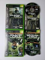 TOM CLANCY SPLINTER CELL Chaos Theory ORIGINAL XBOX 2 Game Lot COMPLETE CIB VGC