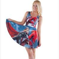 Women pleated Dress Cute Cartoon Printed dress S-4XL dress
