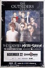 """THE READY SET / METRO STATION """"THE OUTSIDERS TOUR 2014"""" SAN DIEGO CONCERT POSTER"""