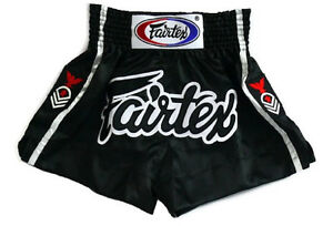 Fairtex Muay Thai Boxing Shorts Black Satin  BS0621 Red Eagle Rank Patch on side