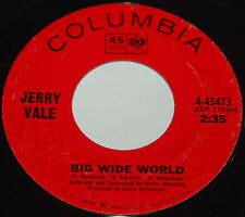 Jerry Vale 45 Big Wide World / Ashamed
