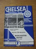 25/11/1967 Chelsea v Manchester United  (Folded, Scores Noted On Back). No obvio