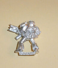 40k Rare oop vintage Metal Space Marine Grey Knight Trooper w Incinerator 3