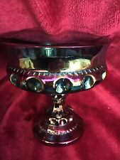 Carnival Glass Amethyst Vintage Candy Dish