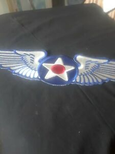 US Army 8th Air Force  wing  Patch Iron on! ! Size  13..5