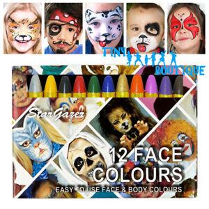 Stargazer Colour Sticks Face Paint Football Rugby Team England Halloween Party