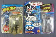 2x Marvel Venom Action Figures Living Skin Slime Pores & Electronic Talking 1991