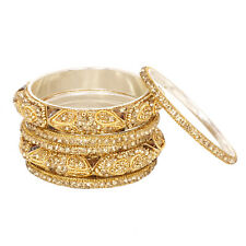 Indian Gold Plated American Diamond Bangles Bracelet PartyWear Fashion Jewelry