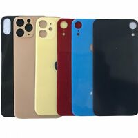 Replacement Glass Rear Back Door Cover For iPhone 8 X XR XS Max 11 Pro Big Hole