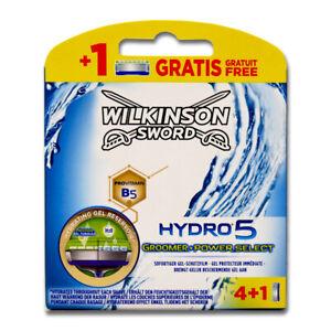Wilkinson Hydro 5 Rasierklingen 4+1 Groomer Power Select Ersatzklingen 5 Stück