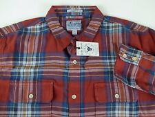 Mens XL Lucky BRAND Plaid Saturday Stretch Cotton Shirt Flannel