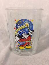 Disney Mickey Mouse Collectible Square Glass Tumbler Mug McDonald's 2000