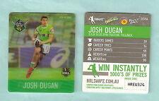 #D535.  NRL 2011 RUGBY LEAGUE TAZO #33  JOSH  DUGAN,  CANBERRA RAIDERS