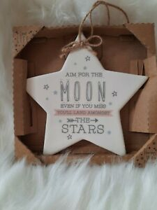 Love Life Star Plaque Aim For The Moon