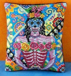 Female of the Dead Mini Cushion Cross Stitch Kit, Sheena Rogers Designs