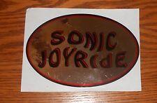 Sonic Joyride Sticker Decal Oval Promo (mirrored) 6x4 RARE