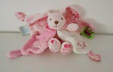 Doudou et compagnie lapin rose Tatoo spirale NEUF