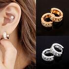 Men's Women's Stainless Steel Hoop Huggie Ear Studs Earring Fashion Jewelry Punk
