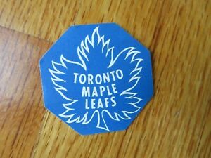 "Rare Original Late 60s UNUSED Game Puck TORONTO MAPLE LEAFS 1.5"" Logo Decal Puck"