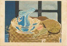 Braque 74 La Cuvette Bleue -The Blue Basin-Collectible Vintage Art Post Card