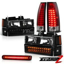 94 95 96 97 98 Chevy C1500 C2500 Silverado Red LED Cargo Tail Light Headlights