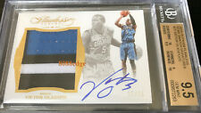2015-16 FLAWLESS 3CL PATCH AUTO: VICTOR OLADIPO #15/25 AUTOGRAPH BGS 9.5 w/3x 10