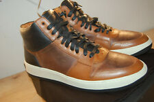 NIB Frye Wythe Court sneakers 11 M handcrafted $478 Cognac Made In Italy