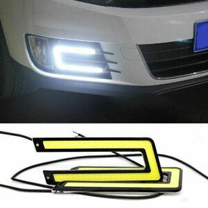2 x U-Shape White COB Led Lights 55000K Daytime Running Lights DRL Headlights