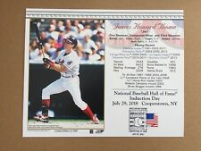 JIM THOME CLEVELAND INDIANS 2018 8X10 HALL OF FAME INDUCTION DAY CARD POSTMARKED