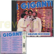 """I GIGANTI """"I PIU' GRANDI SUCCESSI"""" RARO CD SERIE SEMPREVERDE"""