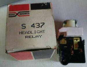 NOS BORG WARNER Headlight Switch BWD S437 RELAY S 437