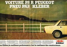 PUBLICITE ADVERTISING 114  1980  KLEBER pneus &  PEUGEOT  ( 2p)