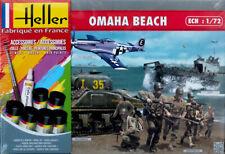 Omaha Beach Diorama Komplettset 1:72 Model Kit Bausatz Heller 53012