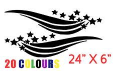 "LARGE "" Starburst"" DECALS - Vinyl Stickers - Logo badge car caravan boat vw van"
