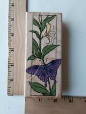 1994 HERO ARTS BUTTERFLY BOOKMARK RUBBER STAMP -  H922